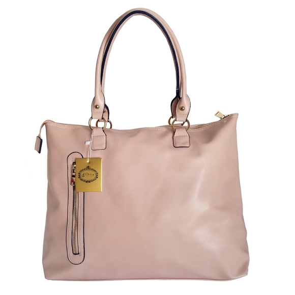 d'Orcia Handbags - 🆕d'Orcia Faux Leather Pink Large Tote Handbag